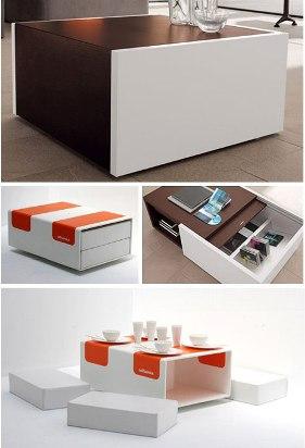 rechthoekige koffietavel CUB8 van Davide Varotto