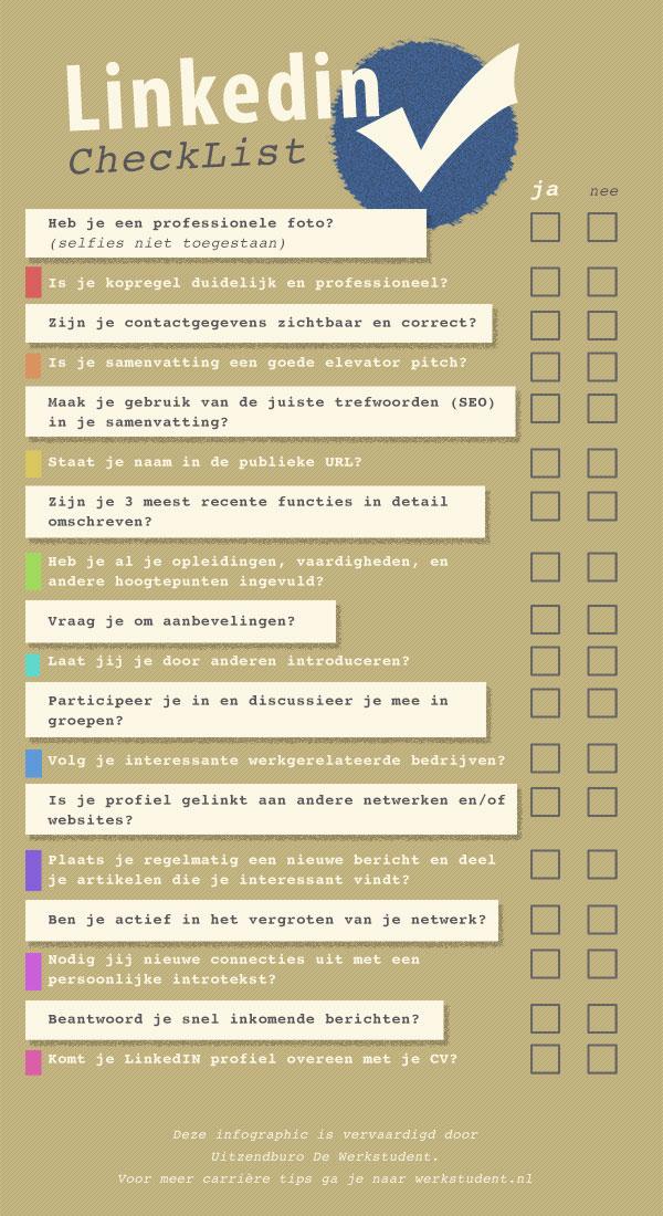 de linkedin profiel checklist
