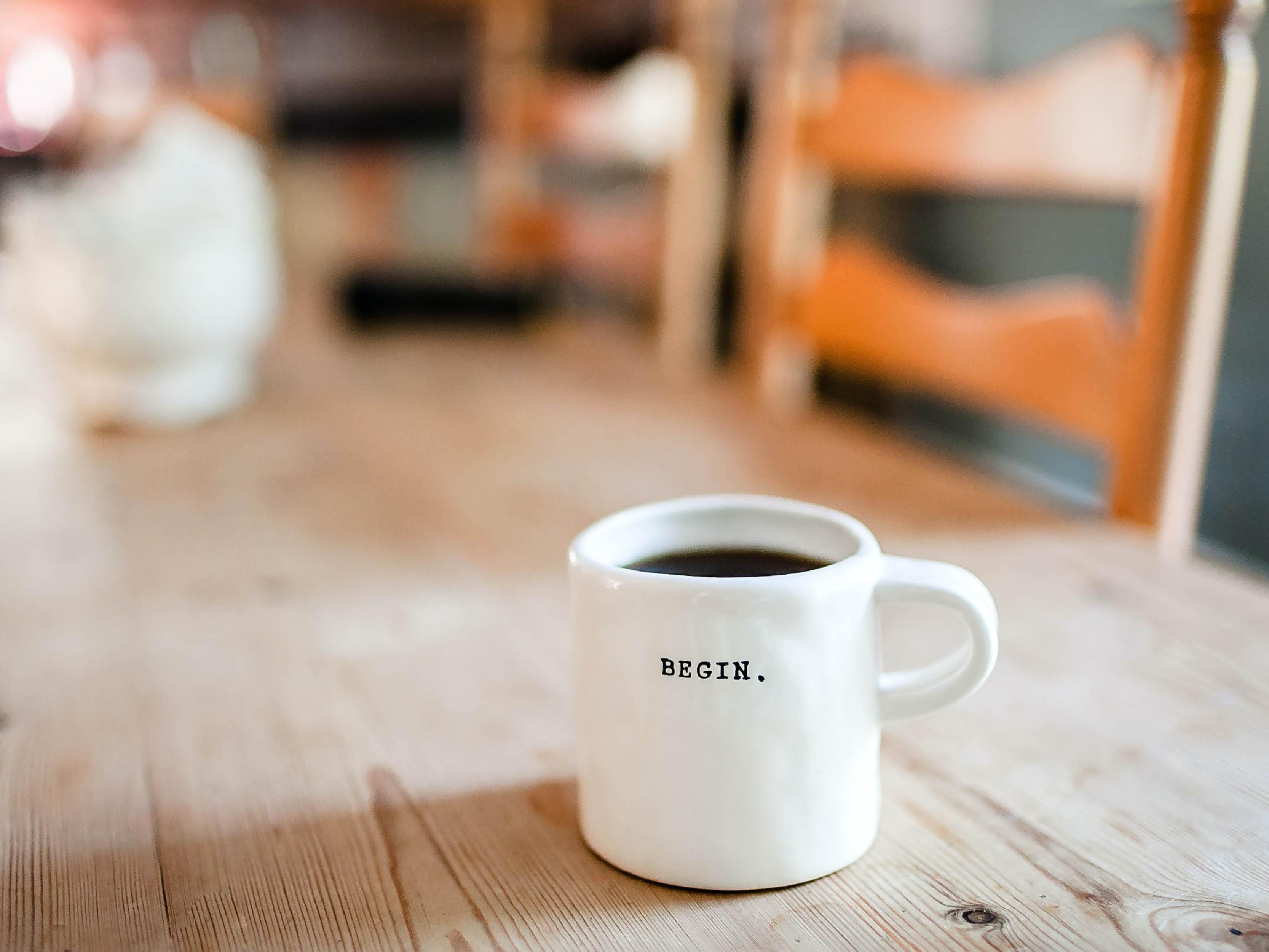 Drink koffie slim